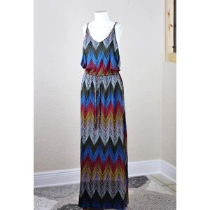 Banana Republic Chevron Maxi Dress - Small